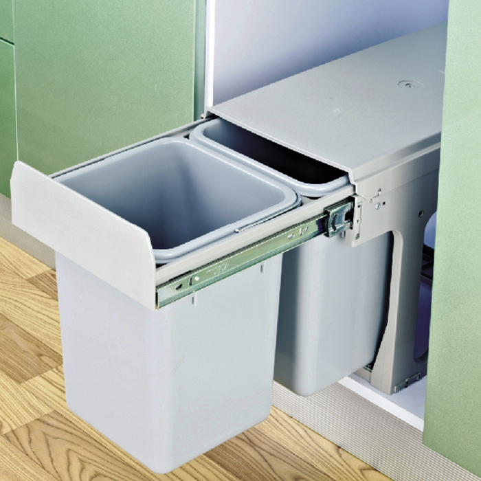 Kitchen accessories Double-bucket pull out garbage trash bin