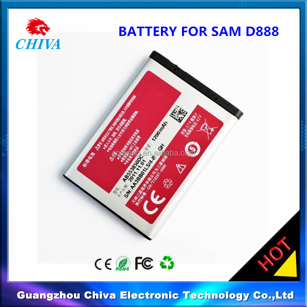 cell phone battery for samsung d888 AB553850DC
