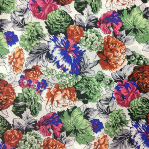 2018 China market new product warp-knitted print flower spandex blend polyester fabric