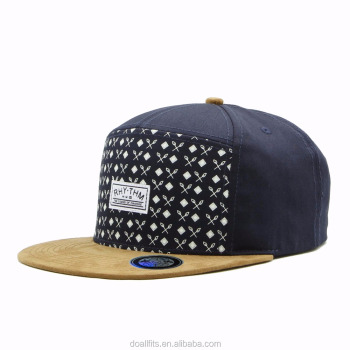 ee6d4e3a457 wholesale 5 panel camp cap and hat blank flat brim 5 panel snapback hat