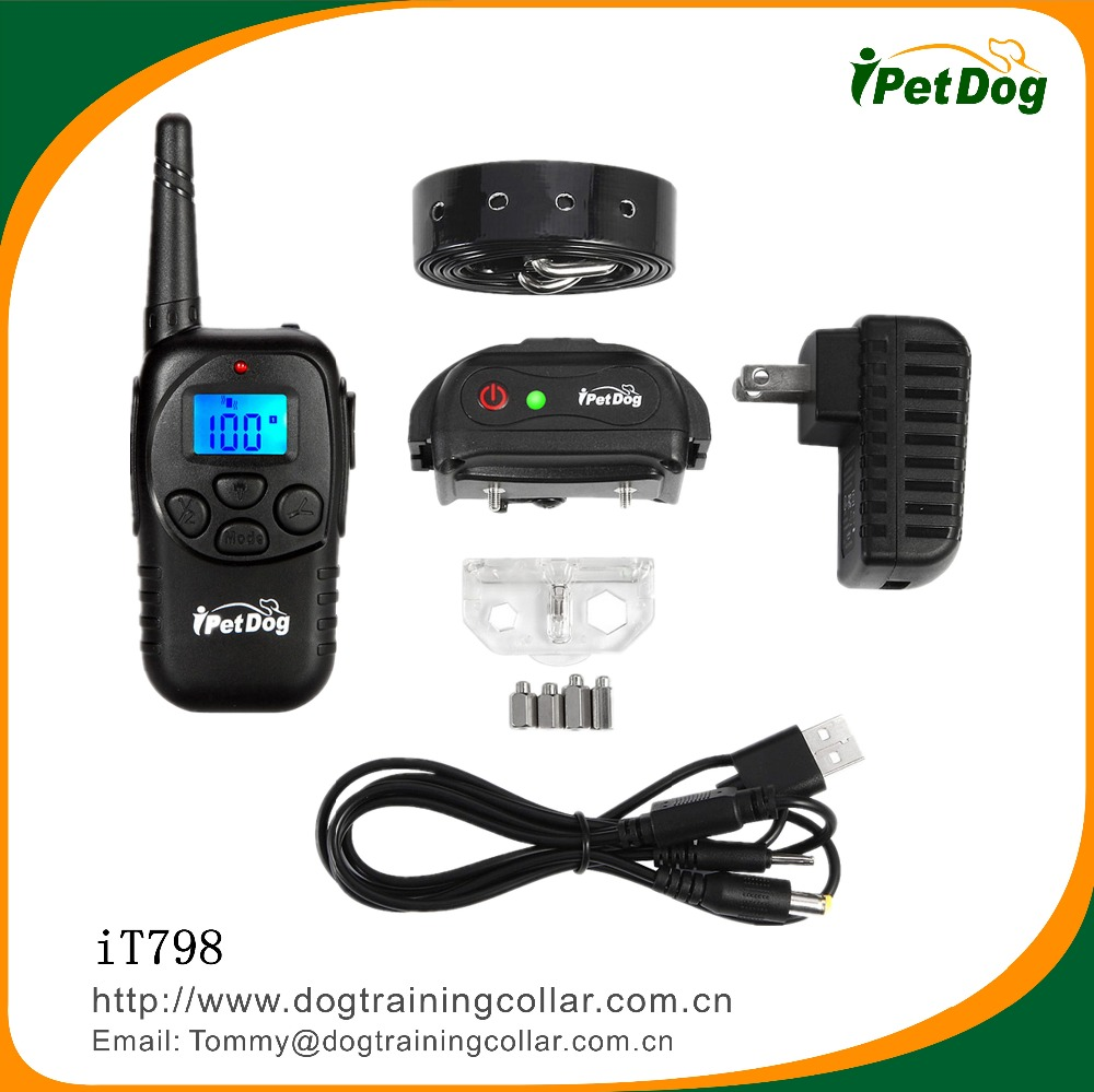 Import pet animal products from china shock collar training collar with LED light