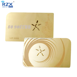 Gold stainless steel visiting metal business card with customized craft
