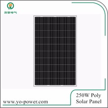 China Yo Power price per watt solar panels of 250w solar panel
