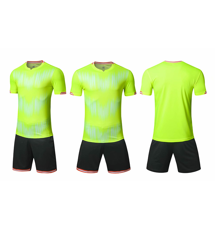 Neon verde di Calcio jersey Mens uniforme di calcio junior team