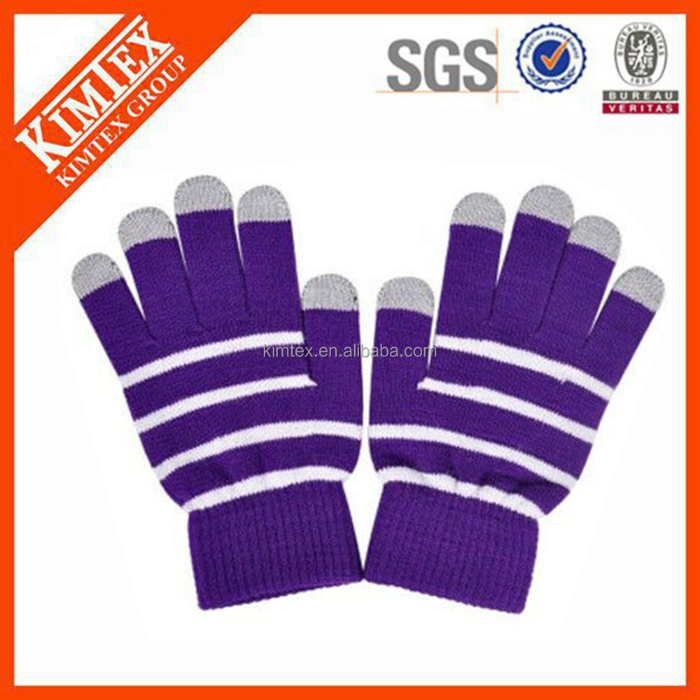 wholesale winter acrylic plain thinsulate knitted gloves