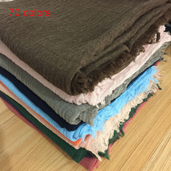 Wholesale Cotton Plain Hijab Scarf bubble Muslim scarves