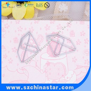 Jewel shaped safe material nickel plated paper clips