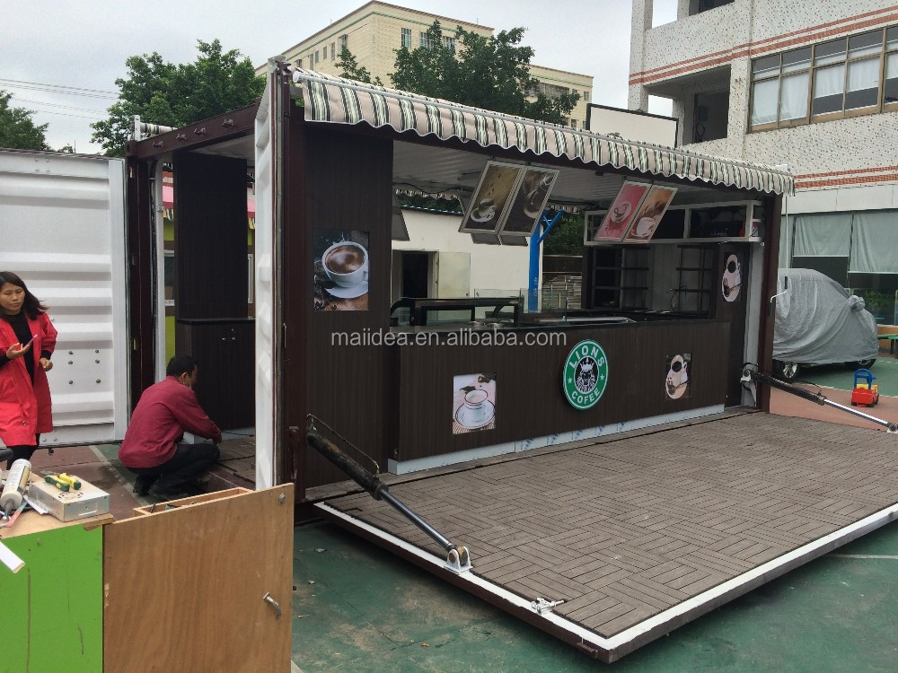 Shipping Container Customized Prefabricated Coffee Shop
