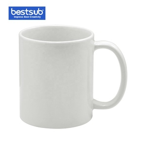 BestSub Personalized 11oz White Coated Sublimation Ceramic Printed Coffee Mugs