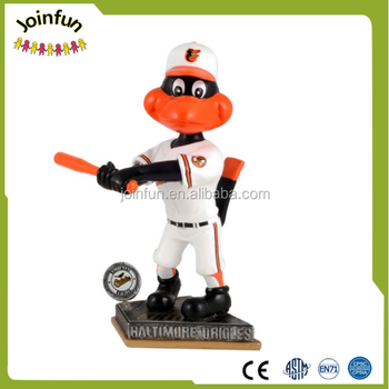 Custom Sport Mascot Statue Bobble Head Animals,custom make plastic mascit bobble head statue