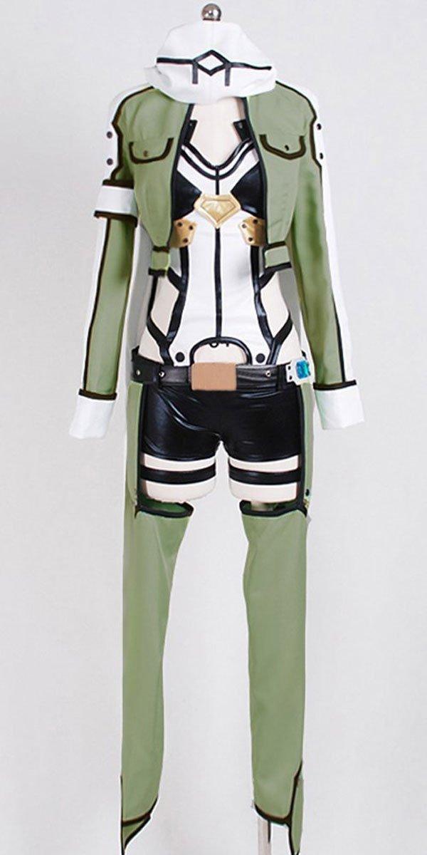Get Quotations · FOCUS-COSTUME Sword Art Online Ⅱ GGO Sinon Suit Cosplay  Costume ff203b57e8a5