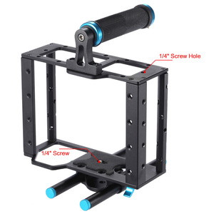 Aluminum Camera Cage Handle Rig For Canon 5D DSLR