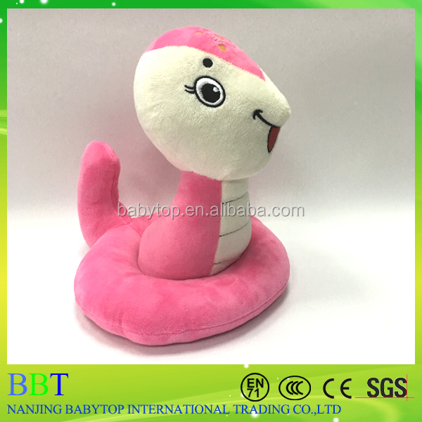 China supplier Graceful stuffed Pink Snake Promotional kids toys