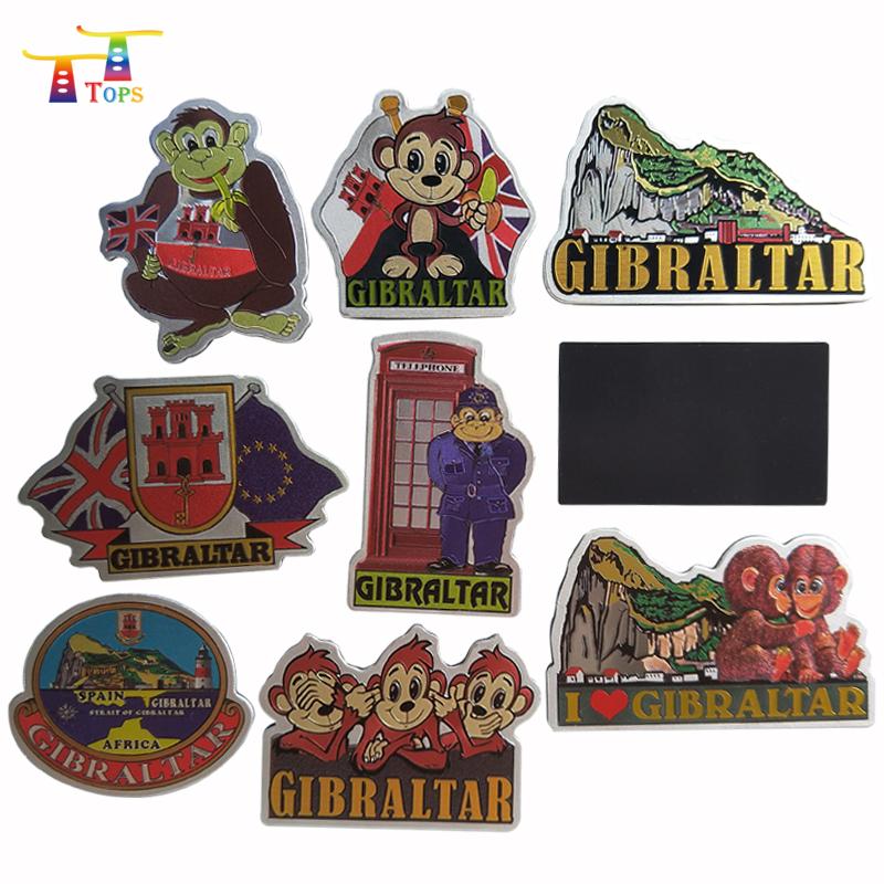 UV printing customized tourist souvenir foil aluminum foil fridge magnet
