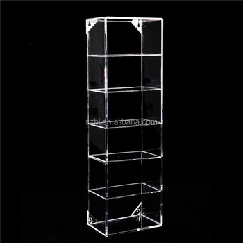 Modern Clear Acrylic Wall Mounted Storage Organizer Rack 6 Shelf Sunglasses  Eyewear Display Case