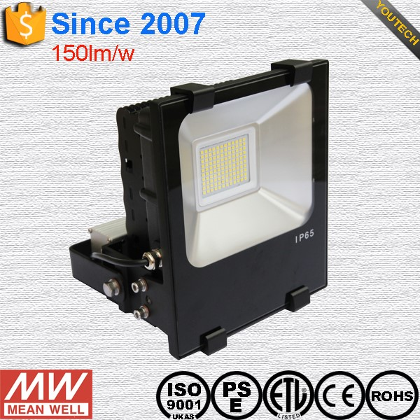 50W LED Flood Lights meanwell Driver100W LED Flood Light with 8 Years Warranty