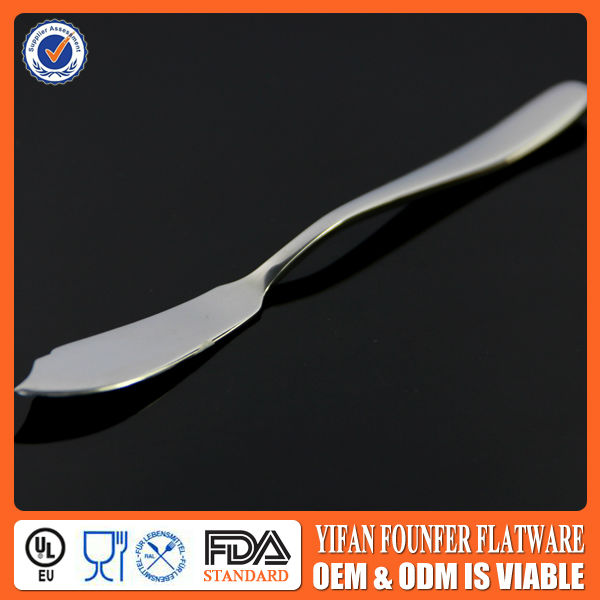 Laser logo butter knife, stainless steel cheese spreaders
