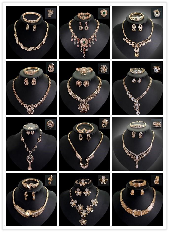 8257f8b6068a1 Bijoux fantaisie France Imitation Diamant Faux Or Jeunes Filles Pas Cher  Ensemble De Bijoux Grands Ensembles