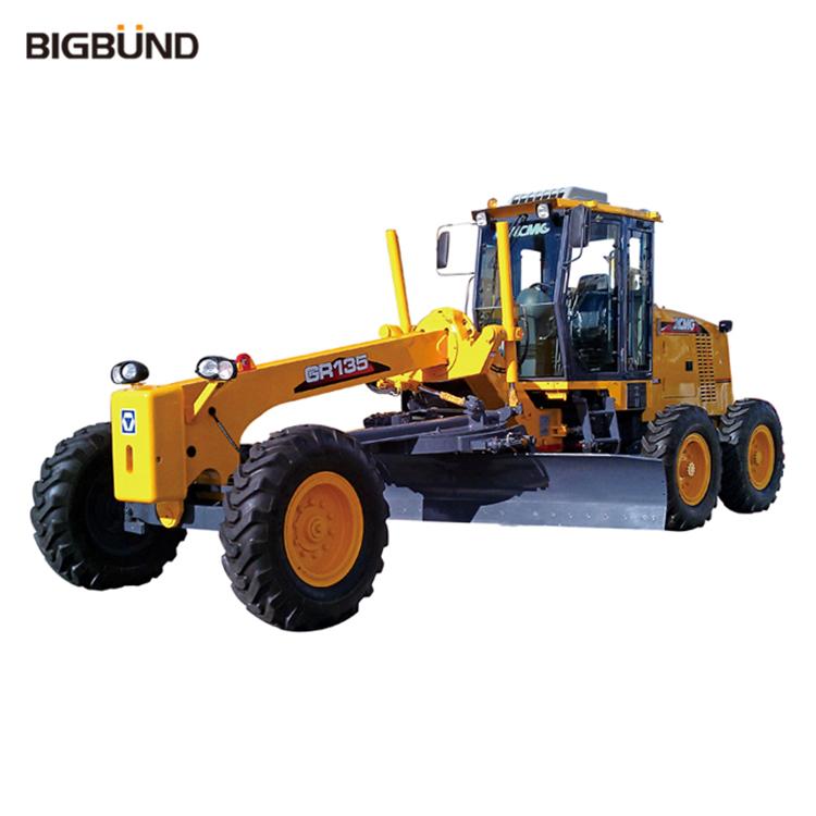 GR135 Bigbund Official 135hp Small Motor Grader With Blade And Ripper