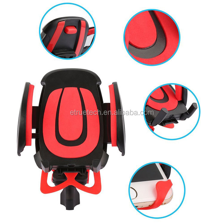 Universal Motorcycle Bicycle Bike Phone Holder; Handlebar Grip Phone Stand Bike Mount Mobile Phone Holder on Bike