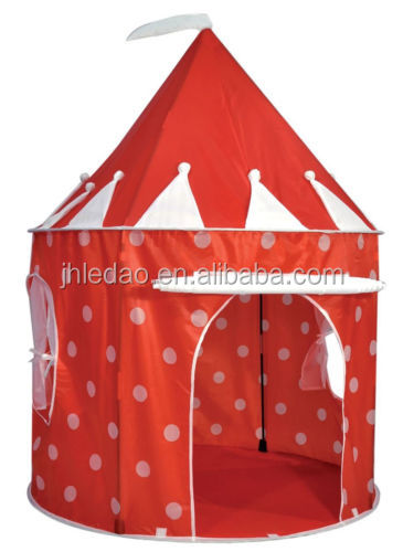 Red Princess Castle Play House Toys Tent Kids family play Tent