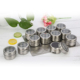 12 pcs Stainless Steel Magnetic Spice Jar Bottle Shaker Tins Set With Steel board