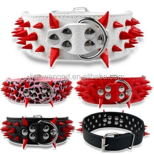 China Pet collar Supplies 3 Inch Spike Dog Collars For Large Dog Spiked Collar