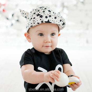 e3e6ed6cd0480 Bebé gorra de béisbol sombrero para el sol para niños niñas de cuerno de  buey estrellas