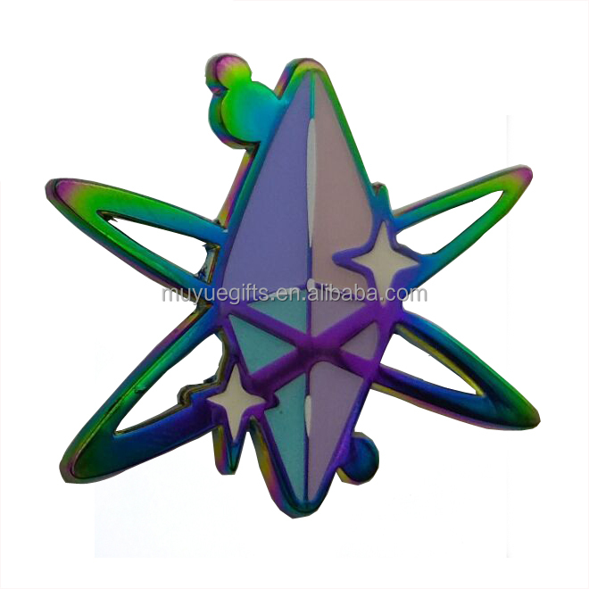 Groothandel promotionele modieuze metalen item hard enamel rainbow revers pin