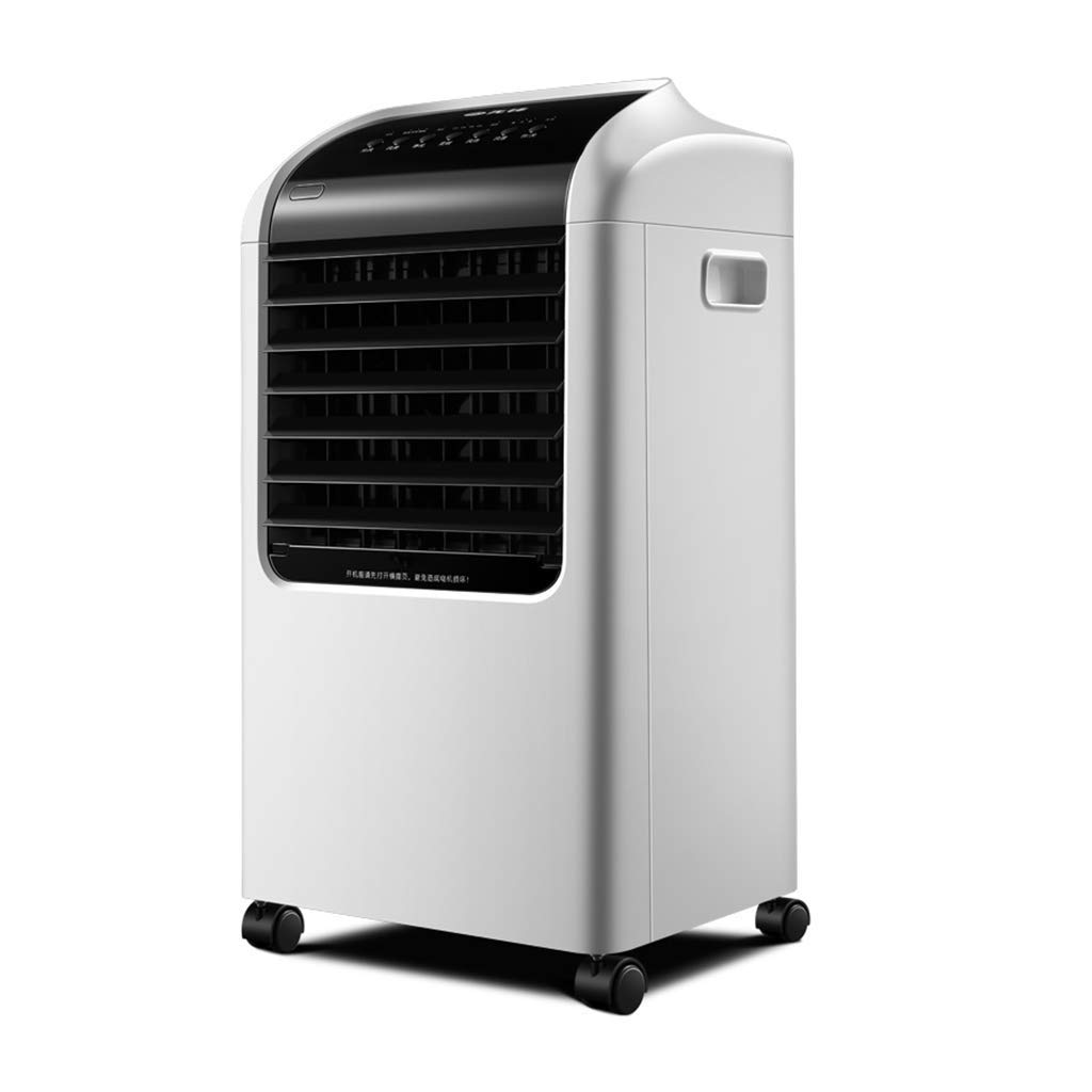 Portable Evaporative Air Cooler, White Household Cooling Fan, Quiet Remote Timing Portable Air Conditioner