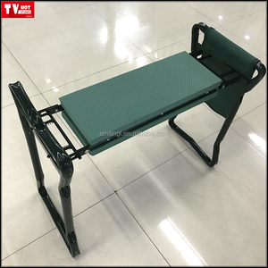 Foldable Garden Kneeler and Seat With Tool Pouch Portable Garden Stool With EVA Kneeling Pad