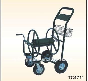 garden water hose reel cart with basket tc4711
