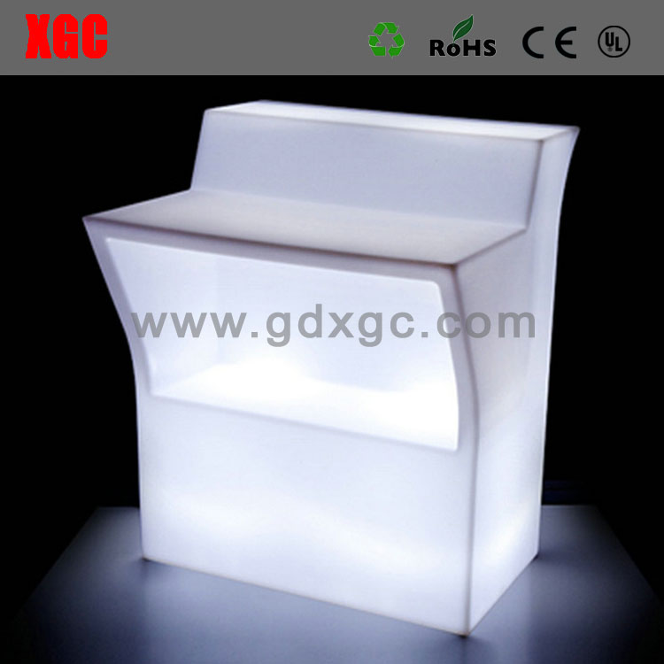 Straight led furniture lighted bar counters illuminated events furniture bar table set