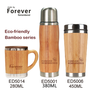 Eco friendly coffee bottle bamboo tumbler with tea infuser strainer