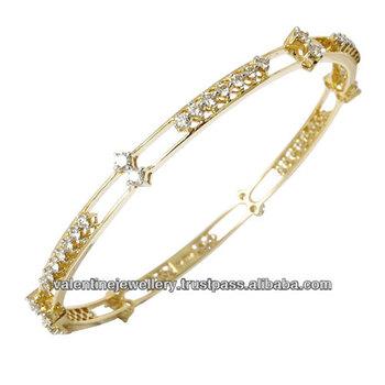 Fine Gold Diamond Bangle Beautifully Designed Diamond Bangle