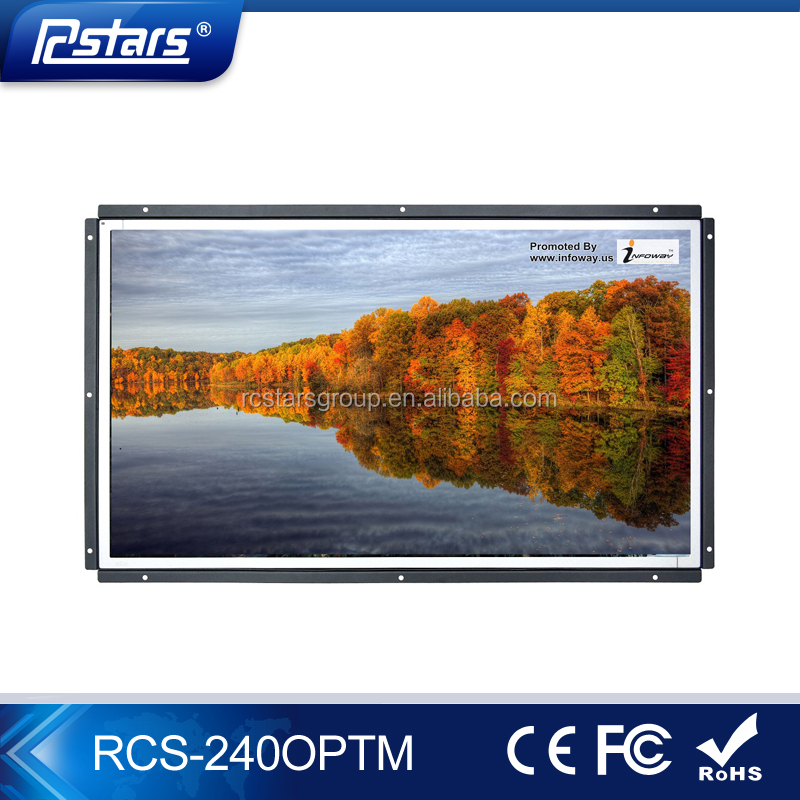 24inch open frame lcd monitor with capacitive touch/IR touch screen(RCS-240OPTM)