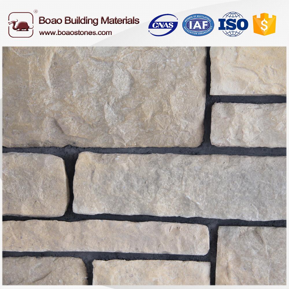 barato chapa de fachada de piedra artificial piedra caliza fabricante para de paredes