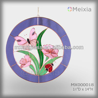 MX100018 wholesale tiffany style lead camed ocean theme stained glass suncatcher for home decoration piece