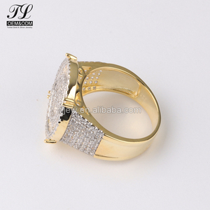 K gold silver optional jewelry china cz jewelry rings for men+wedding ring set gold filled