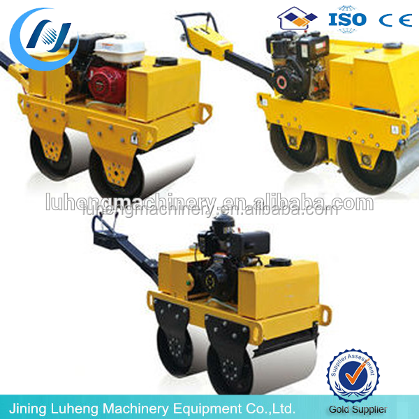 Hot factory sale 1ton, 1.8ton diesel and gasoline engine concrete and asphalt ride on vibratory road roller compactor machine