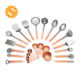 copper plating stainless steel kitchen utensil set 23-pc set