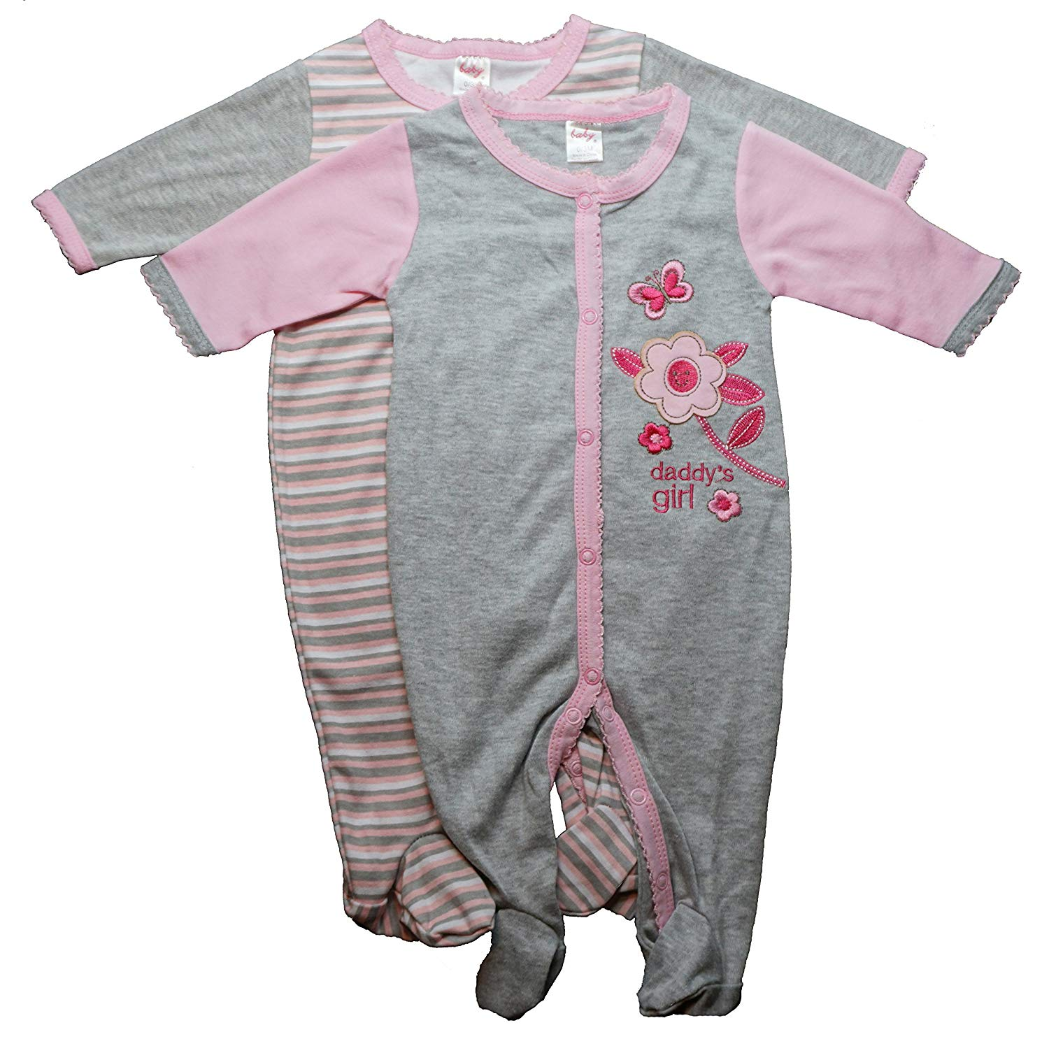 Get Quotations · Funny Cute Baby Girls Novelty Sleep N  Play Footed Sleepers   a917e926b