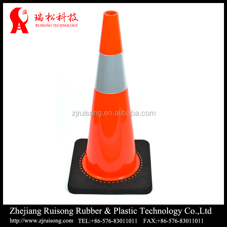 900mm height Custom road safety elastic traffic cone