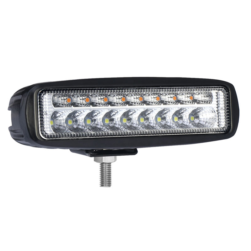 30W 7.5 Inch Light Bar OffRoad Spot Beam Led Vehicle Driving Car Light with Turn Signal Amber for SUV ATV 4WD Car Truck