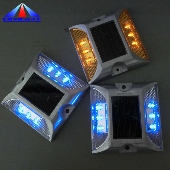 Aluminum Waterproof Led Solar Powered Road Stud Light Reflective Ground Light Path Deck Dock Light Bright Free Shipping Superior In Quality