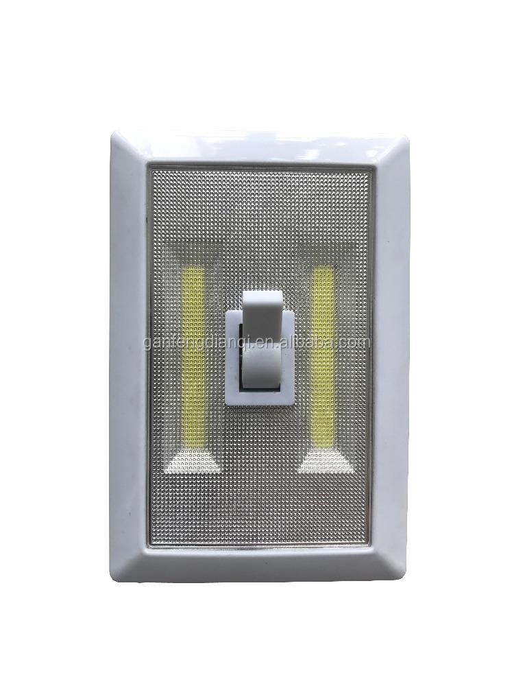 Battery powered COB light cordless COB switch light with magnets