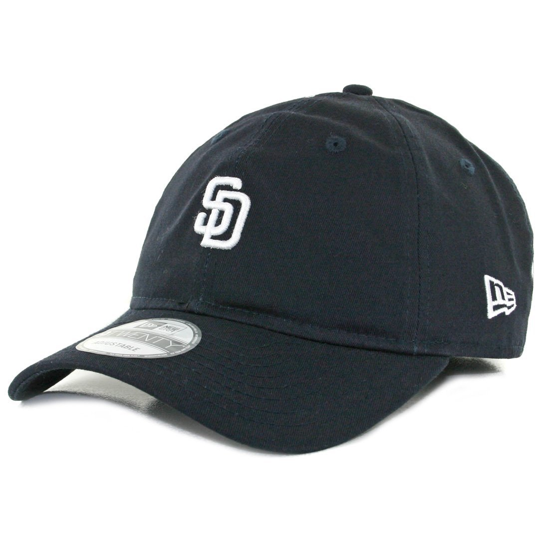 807c2e2cd7e2f Get Quotations · New Era 920 San Diego Padres Micro Logo Dad Cap (Dark  Navy White)