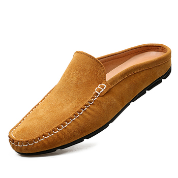 Men's Half Shoes Leather Slippers