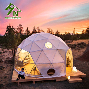 High Quality Steel Geodesic Dome Half Sphere Mini Dome Tents on the Mountain