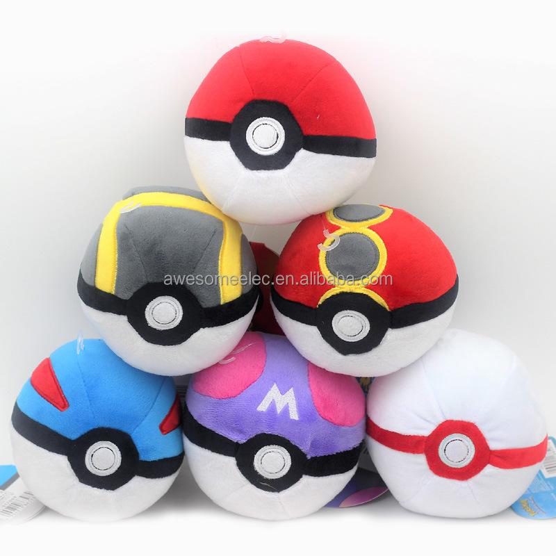 6x Pocket Monsters 12cm 6pcs Poke Ball Plush Soft Toy Stuffed Animal